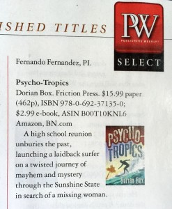 Psycho-Tropics in Publishers Weekly